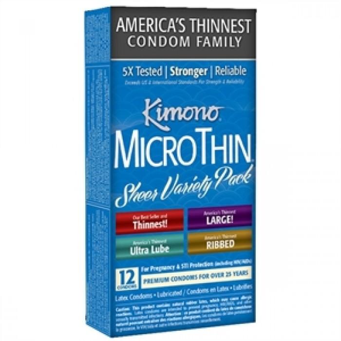 KIMONO MICROTHIN SHEER VARIETY PACK 12 UNITES